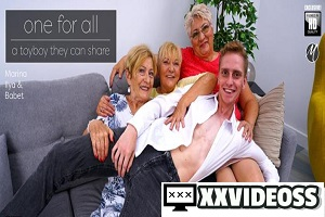 Babet, Ilya & Marina T – One lucky toy boy getting fucked by three horny mature ladies