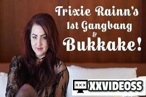 Trixie Rainn – Trixie Rainn's 1st Gangbang & Bukkake! – E42